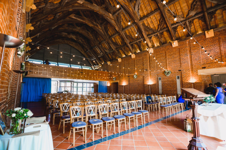 Avoncroft Museum - chairs ready for the wedding ceremony in New Guesten Hall. Photograph by Russell How Photography