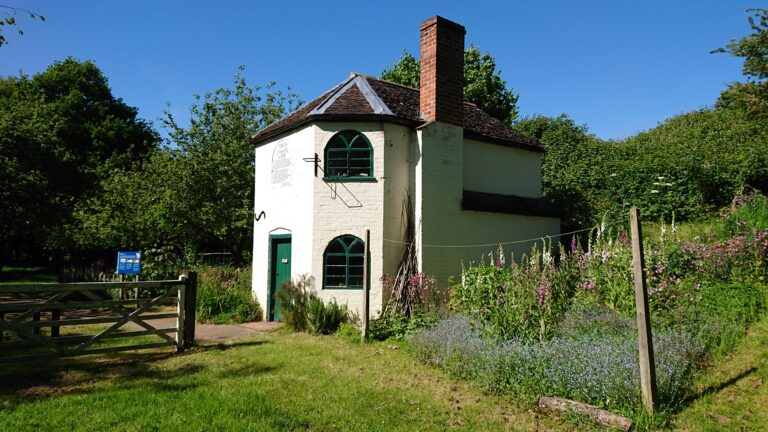 The Tollhouse and garden at Avoncroft Museum, Worcestershire, UK, summer 2020